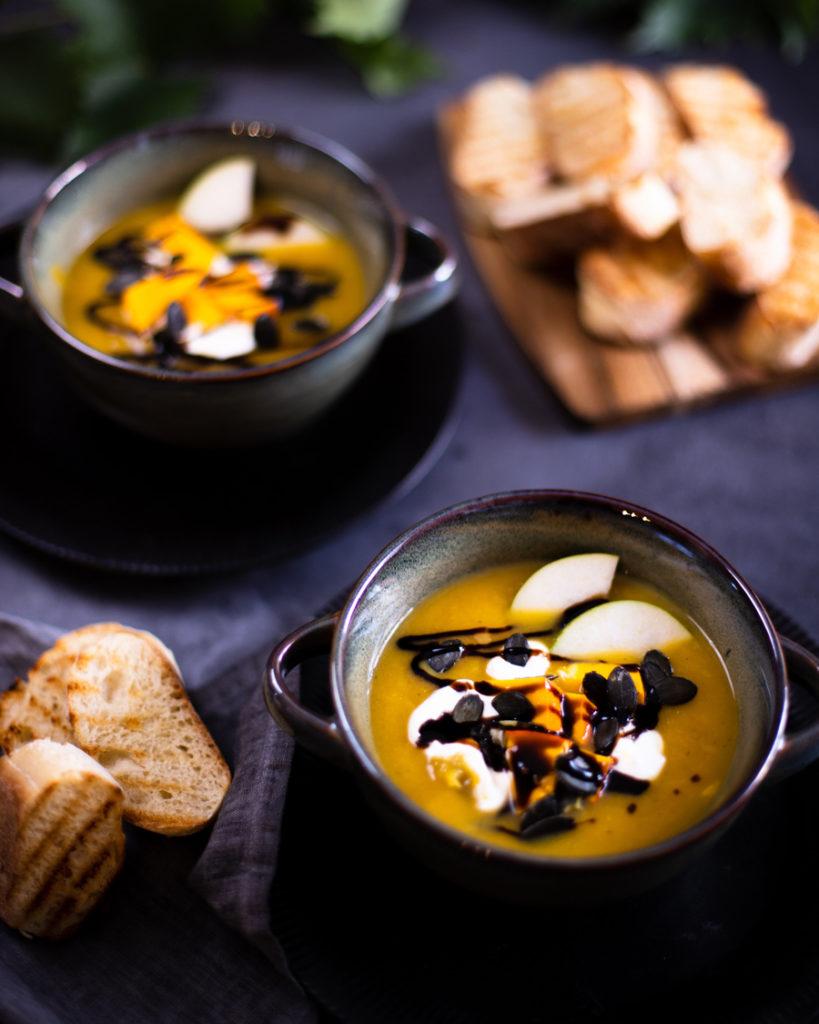 Kürbis Birnen Suppe